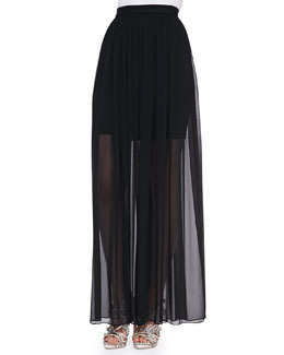 Alice + Olivia Maxi Skirt with Mini Underlay