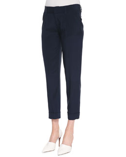 Alice + Olivia Arthur Cropped Rolled-Cuff Pants