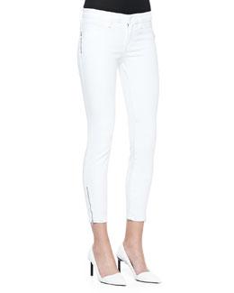 J Brand Jeans Tali Zipper-Cuff Skinny Jeans