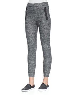 J Brand Jeans Bourke Gravity Fleece Cropped Sweatpants