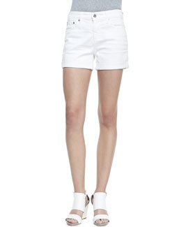 AG Adriano Goldschmied Hailey Roll-Up Shorts, White