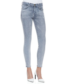 Current/Elliott Bleached Denim Skinny Jeans