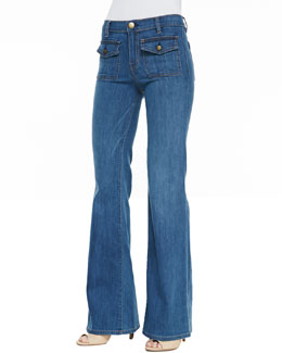 Current/Elliott Dixie Wide-Leg Jeans, Cooper