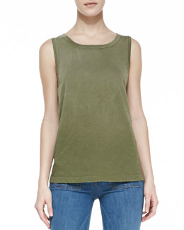 Current/Elliott Faded Cotton Muscle Tank