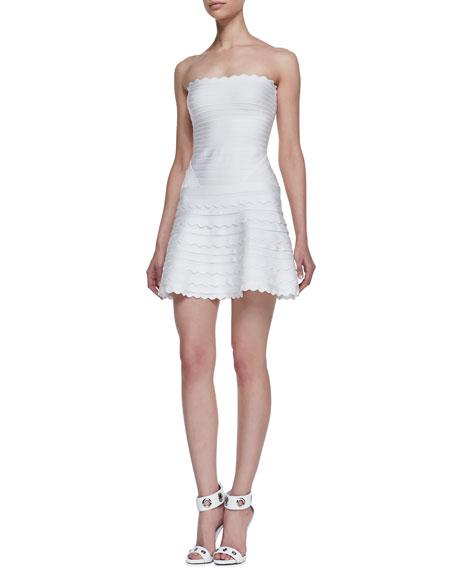 28b09c9f5229 Herve Leger Sleeveless Scallop Bandage Dress