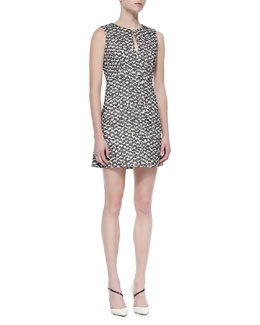 Diane von Furstenberg Yvette Sleeveless Two-Tone Knit Dress