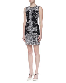 Diane von Furstenberg Pentra Tweed & Lace Dress