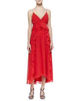 Nanette Lepore Dreamer High-Low Ruffle Dress
