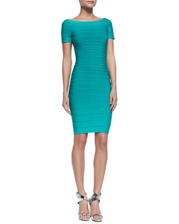 Herve Leger Carmen Off-The-Shoulder Bandage Dress