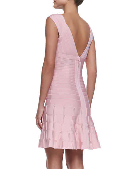 Mirah Puckered-Skirt Bandage Dress