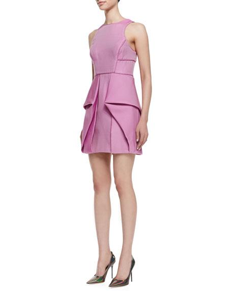 Simona Sleeveless Origami Dress, Boysenberry