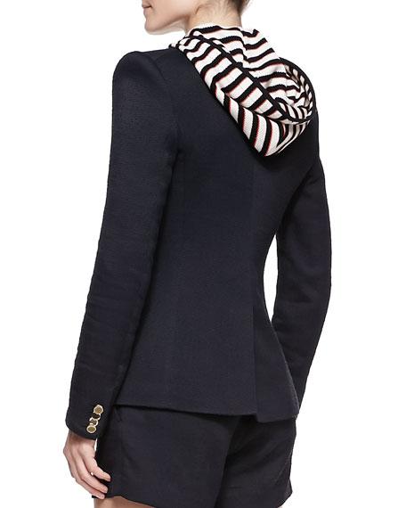 Hooded Detachable-Dickey Jacket