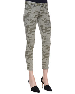 Cut25 by Yigal Azrouel Cropped Camo Skinny Jeans