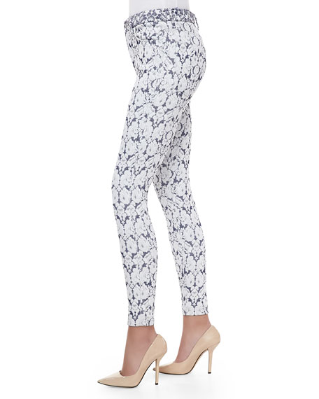 Tailored Skinny Ankle Jeans, Dutch Jacquard