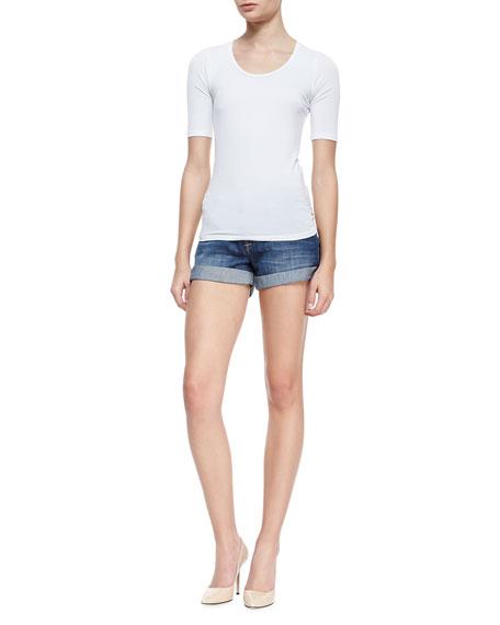 Hampton Hackney Denim Rolled Shorts