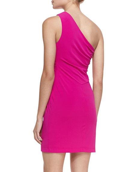 Gathered One-Shoulder Dress
