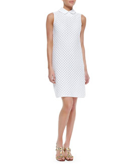 Tory Burch Perla Cotton Dress With Detachable Collar