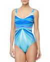 Gottex Seraphine Ray-Print One-Piece Swimsuit