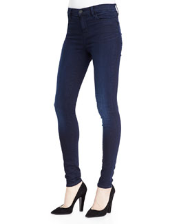 J Brand Jeans Mid-Rise Faded Stocking Jeans, Darkness