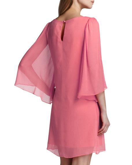 Odette Georgette Dress, Pink Icing