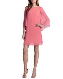 Alice + Olivia Odette Georgette Dress, Pink Icing