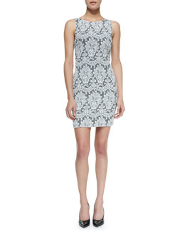 Alice + Olivia Donovan Lace Sleeveless Sheath Dress
