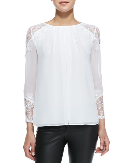 Danyelle Lace/Silk Blouse