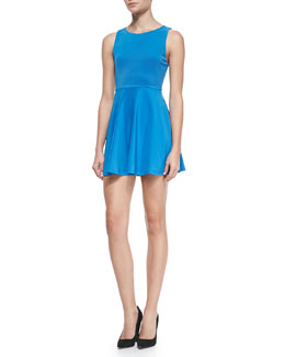 Alice + Olivia Monah A-Line Sleeveless Dress, Marina Blue