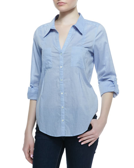 Cartel Chambray Long-Sleeve Blouse