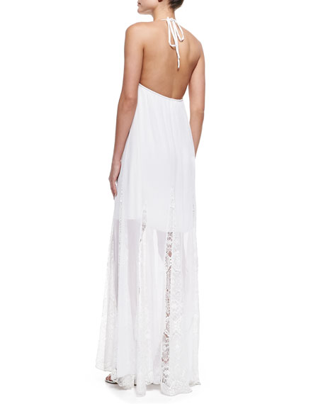 McBain Halter Lace Maxi Dress