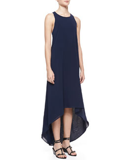 Alice + Olivia Silk Keyhole Maxi Dress