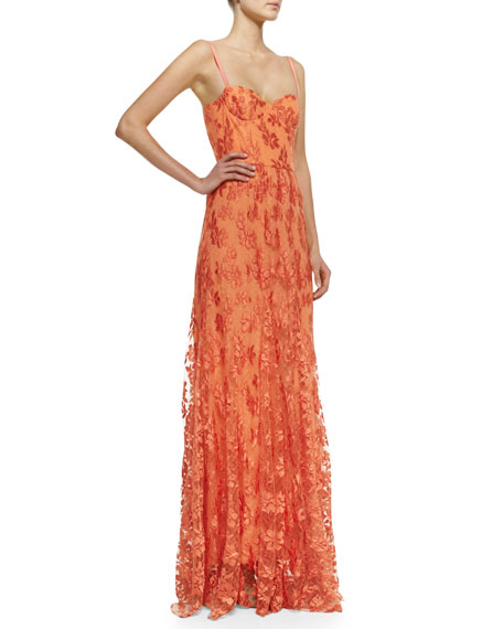 Tyler Floral-Lace Maxi Gown