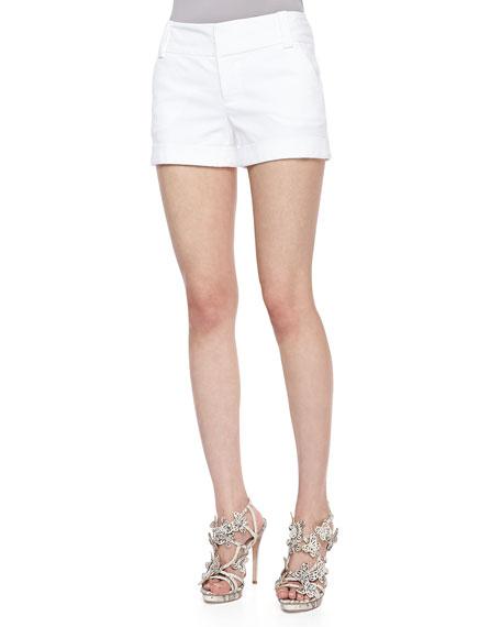 CADY CUFF SHORTS, WHITE