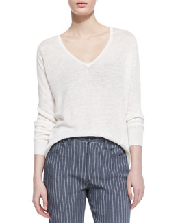 Theory Toberlyn V-Neck Slub Sweater