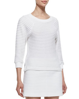 Theory Ebro Leiria 3/4-Sleeve Sweater