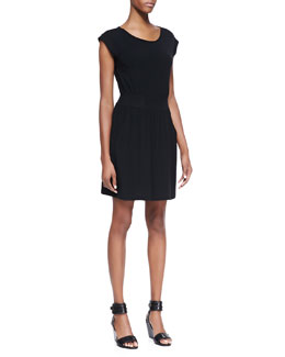 Theory Ettia Cap-Sleeve Sheath Dress, Black