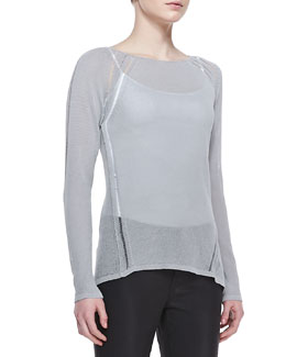 Elie Tahari Labria Knit Long-Sleeve Sweater