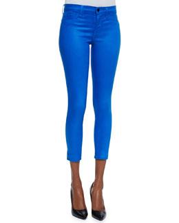 J Brand Jeans Mid-rise Capri Pants, Lacquered Breakwater Blue