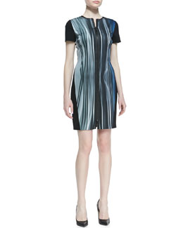 Elie Tahari Emory Windswept Front-Zip Dress