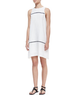 Rag & Bone McKenzie Contrast-Stripe Sleeveless Dress