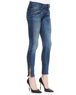 rag & bone/JEAN RBW 23 Cropped Jeans, Oil Stain
