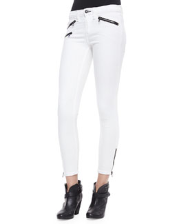 rag & bone/JEAN RBW 23 Cropped Zip-Pocket Jeans