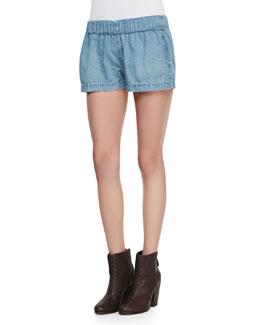 rag & bone/JEAN Elastic Chambray Pajama Shorts