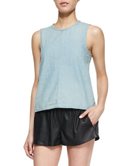 rag & bone/JEAN Nicole Split-Back Denim Tank