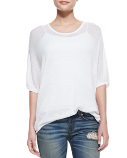 rag & bone/JEAN Bobbie Oversize Pattern-Stripe Top