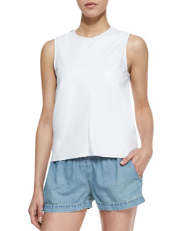 rag & bone/JEAN Nicole Cutaway-Back Cotton Tank