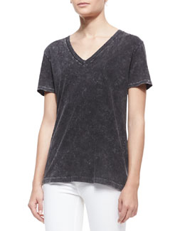 rag & bone/JEAN The Classic Velvet-Pattern Tee