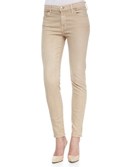 7 For All Mankind Ankle Skinny Khaki Sandwich Twill Jeans