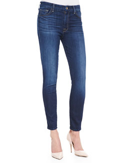 7 For All Mankind High-Rise Ankle Skinny Malibu Coast Denim Jeans
