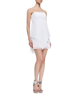 Alice + Olivia Dominick Draped Strapless Babydoll Dress